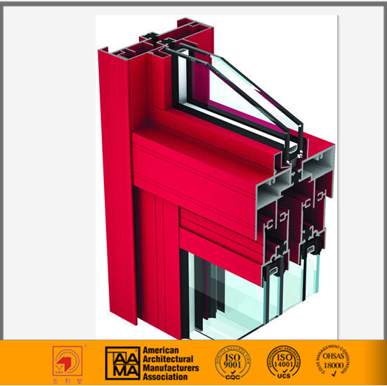 Aama Standard Thermal Break Alumium Casement Window Extrusion