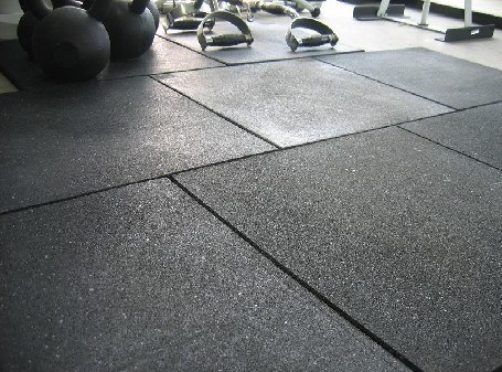 China Black Rubber Gym Floor Tiles GT0203 Photos Pictures Made