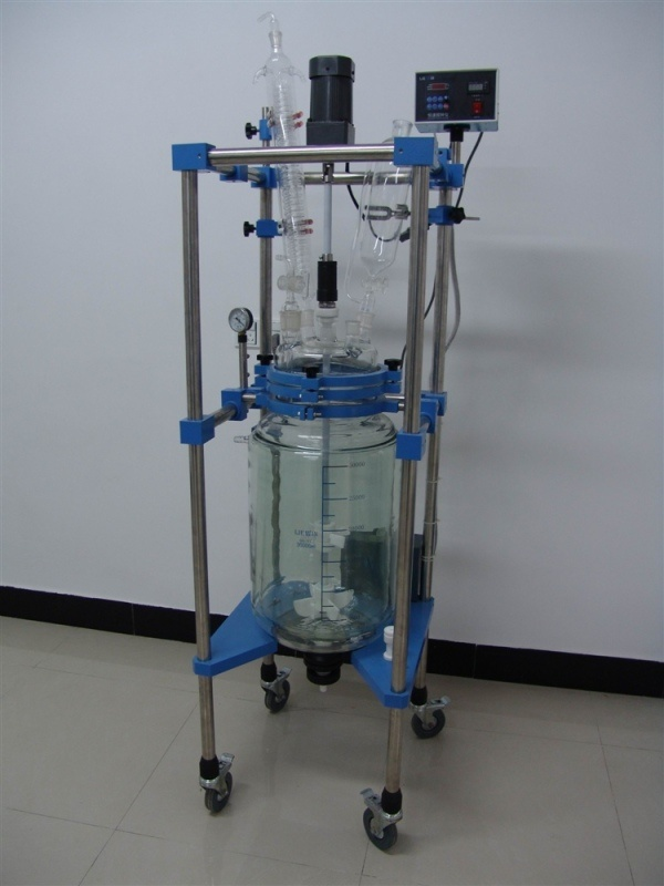 Heb-30L New Type Jacketed Glass Reactor/Double Layer Glass Reactor