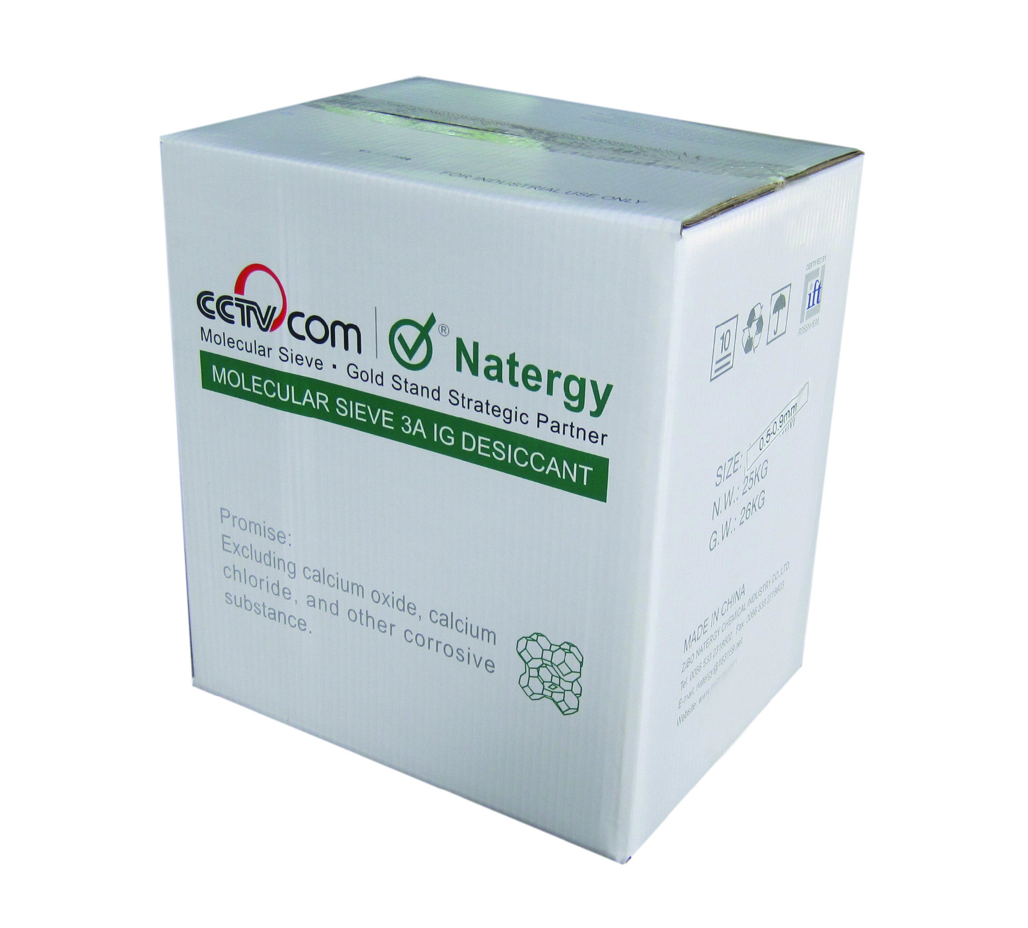 Carton Box Packing Molecular Sieve Desiccant