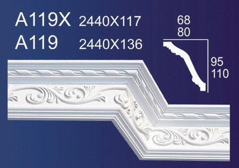 Plaster Gypsum Cornices Moulding (A119)