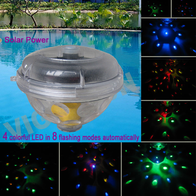 China solar swimming pool blinking floating light vs 80181w china solar swimming pool for Floating lights for swimming pool