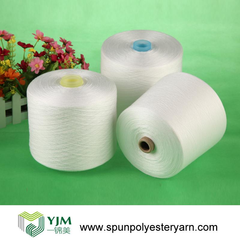 40/2 50/2 Raw White 100% Polyester Spun Yarn