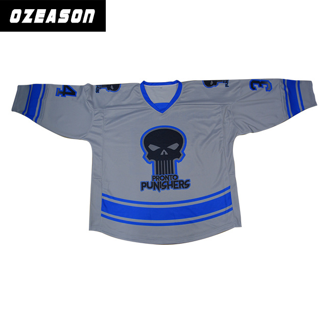 Sublimation Sports Wear Customized Team Polyester Ice Hockey Wear (H018)
