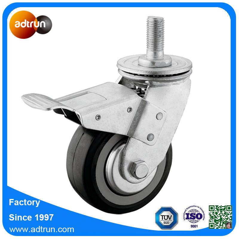 M20 Thread Stem Heavy Duty PU Wheel Casters