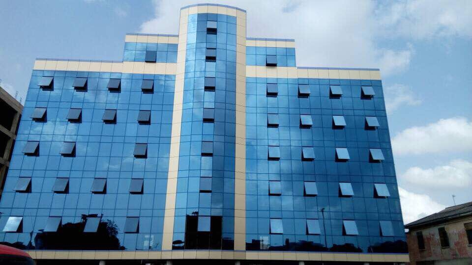 Energy Saving Invisible Frame Aluminum Structure Glass Panel Curtain Wall