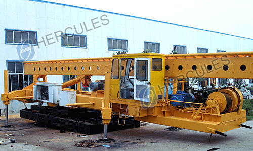 Dual-Use Pile Driver -Drill and Diesel Hammer (CFG)