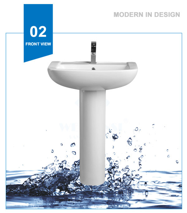 Weidansi Ceramic Wash Pedestal Basin Wash Sink (WDS-P7207)