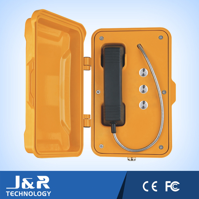 Fire Telephone, Tunnel Telephone with Vandal-Proof Button and Speed Dialing Button