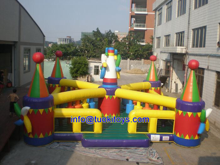 Vinyl Enclosed Inflatable Trampolines with Certificate for Kids and Children (B044)