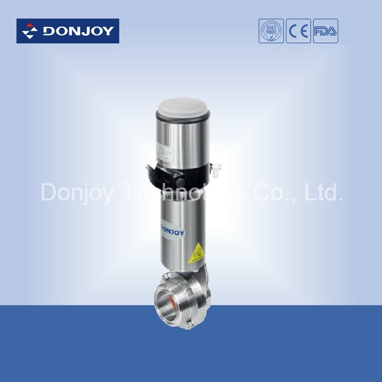 Stainless Steel Sanitary Pneumatic Threaded Butterfly Valve
