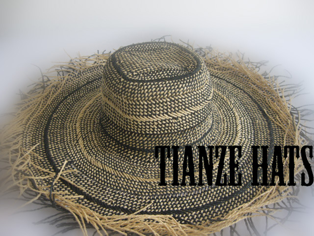 Stripe Twist Paper Straw Hat Body