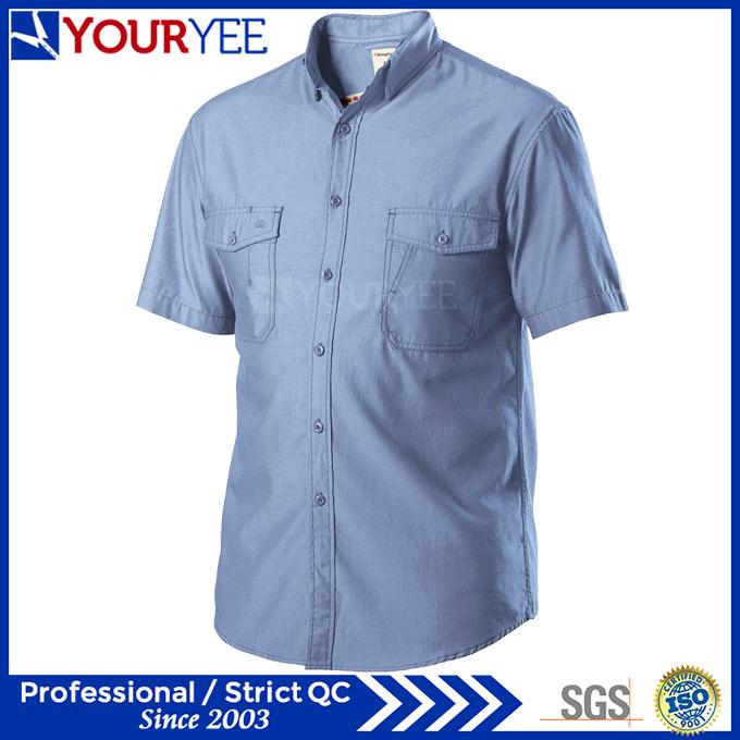 Wholesale Mechanic Work Shirts Short Sleeve Workwear (YWS112)