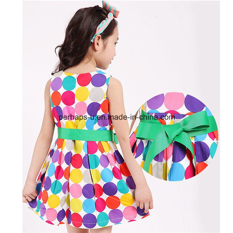 Fashion Polka DOT Baby Girl Lovely Princess Dress Children Wear