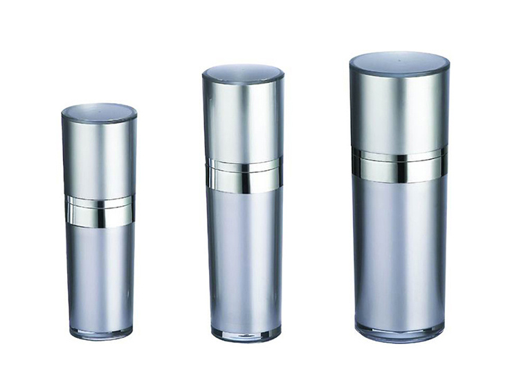 Round Plastic Lotion Bottle for Cosmetic Packaging