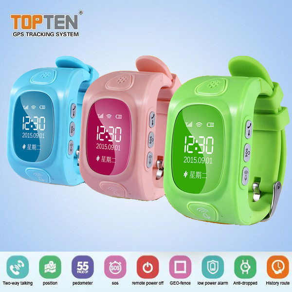 2016 New Colorful Two-Way Electronic Geo-Fence Wt50 GPS Watch