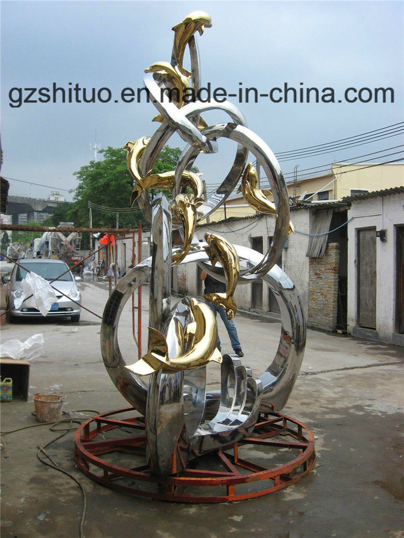 china dolphin combination, outdoor garden decoration decorative