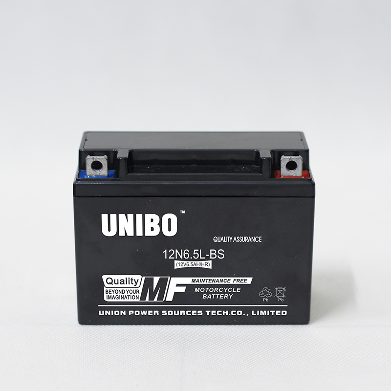 High Quality Maintenance Free Mf 12n6.5L 12V6.5ah Motorcycle Battery