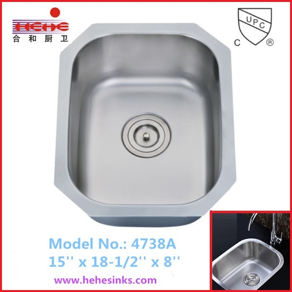 Stainless Steel Kitchen Sink, Bar Sink, Wash Hand Sink (4738)