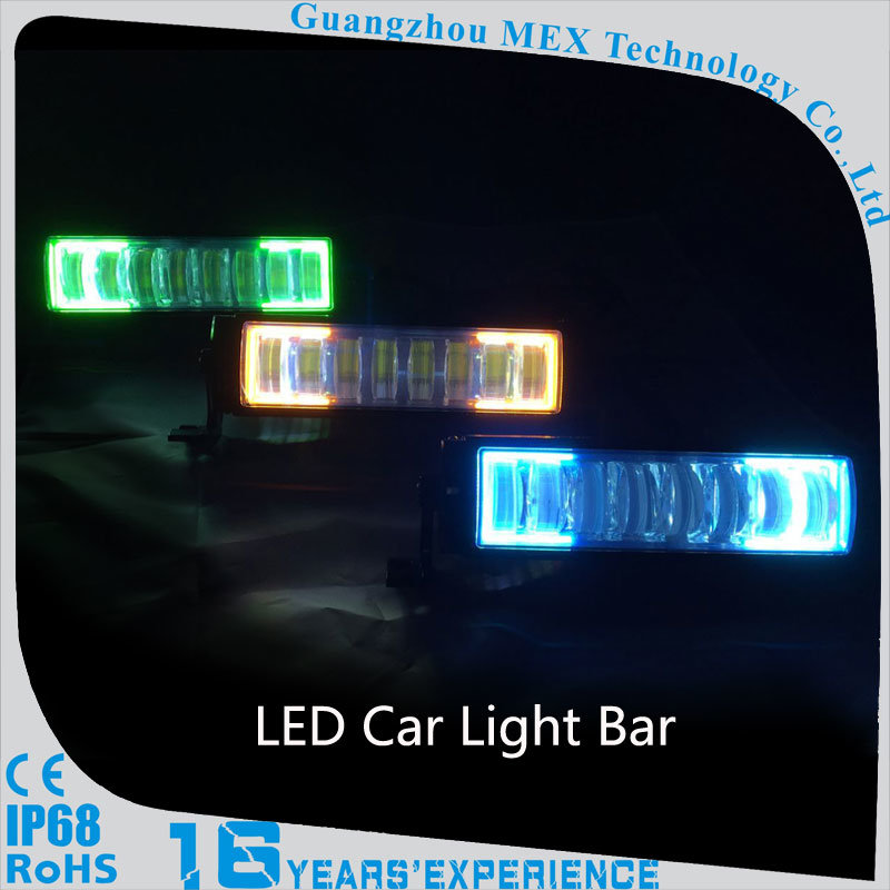 Markcars Attachable Multi Color Car LED Light Bar