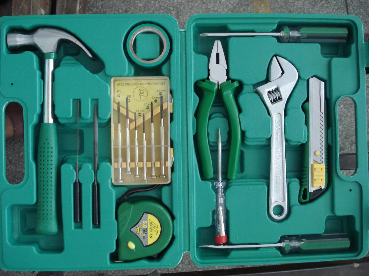 High Quality 16PC Household Hand Tool Kit with Spanner Set