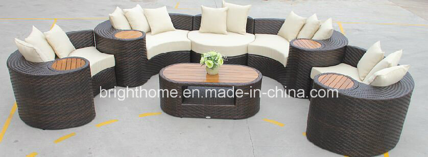 Customised Sofa Set with Teak Wood Top for Outdoor Furniture Garden Furniture Bp-873