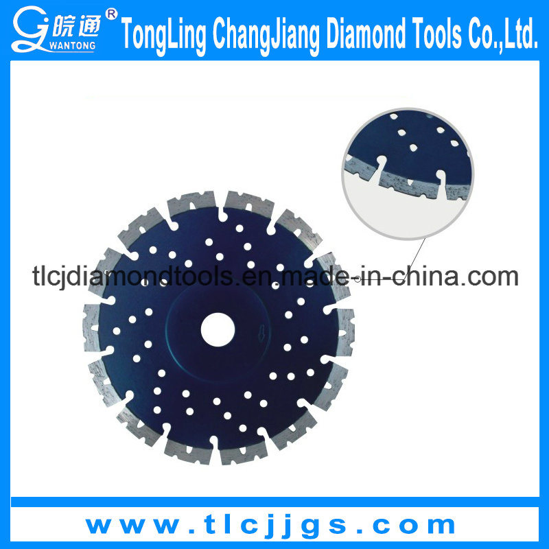 "Laser Welded Diamond Blades with""W""Segments for Dry Use"