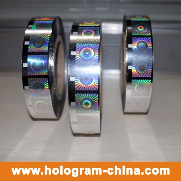 Silvery Golden Hologram Hot Stamping Foil