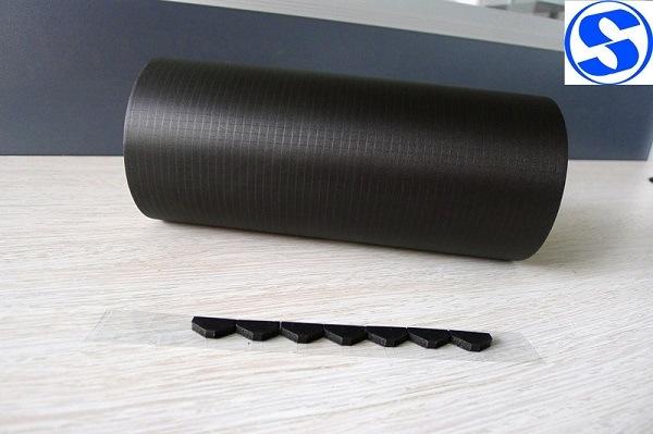 One Side Black Plain Weave Nickel Copper Conductive Fabric