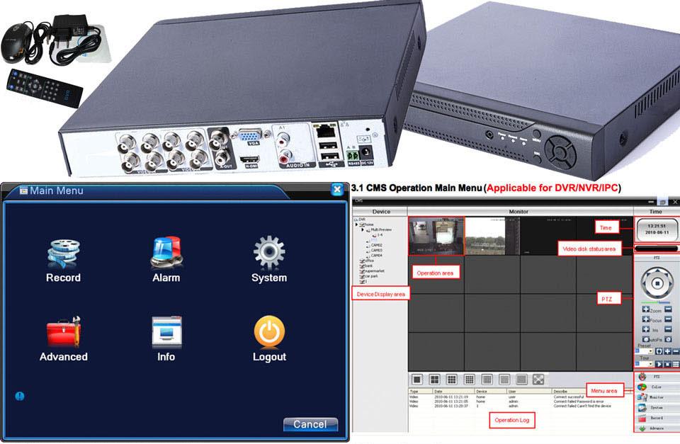 8 Channel Ahd Cvi Tvi 5 in 1 CCTV Standalone DVR