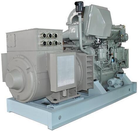 650kw 6 Cylinders Radiator Cooled Marine Generator Set