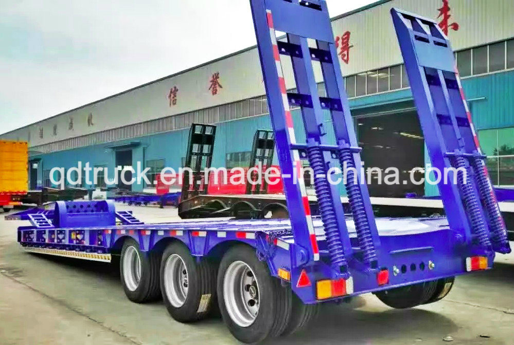 60 Tons lowbed, Tri-Axle Heavy Duty low boy trailers