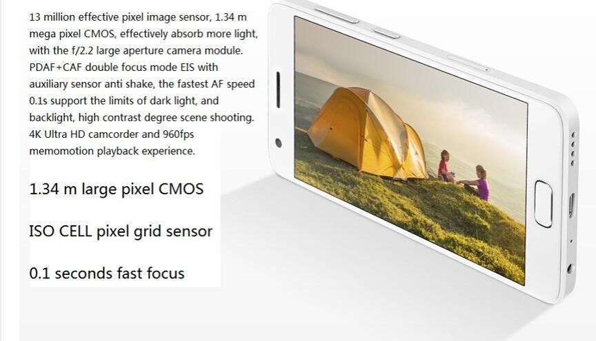 Zuk Z2 4GB RAM 64GB ROM 3500mAh Zui2.0 Smart Phone White Color