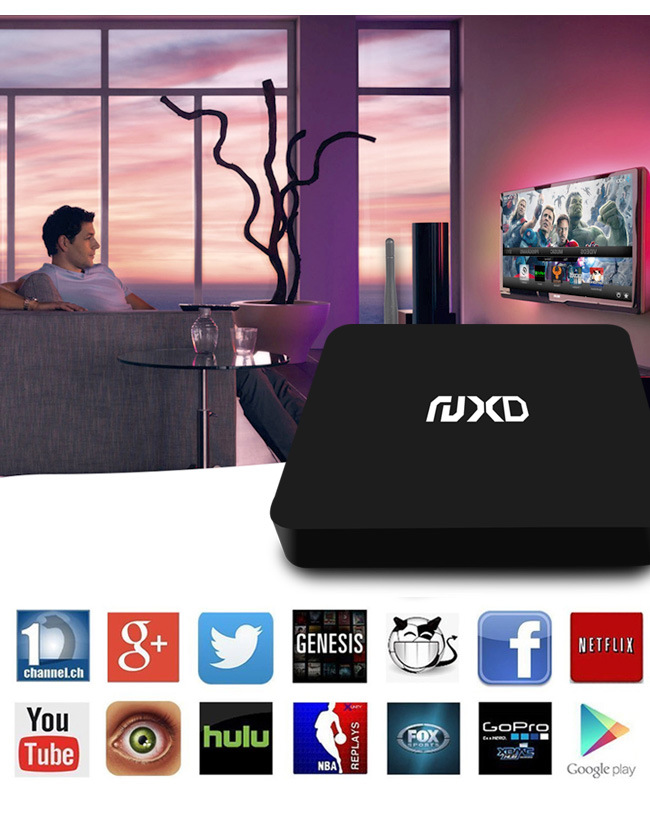 Hot Selling X6 TV Box with Quad Core Chip Set S905 Support H. 265 and 4k