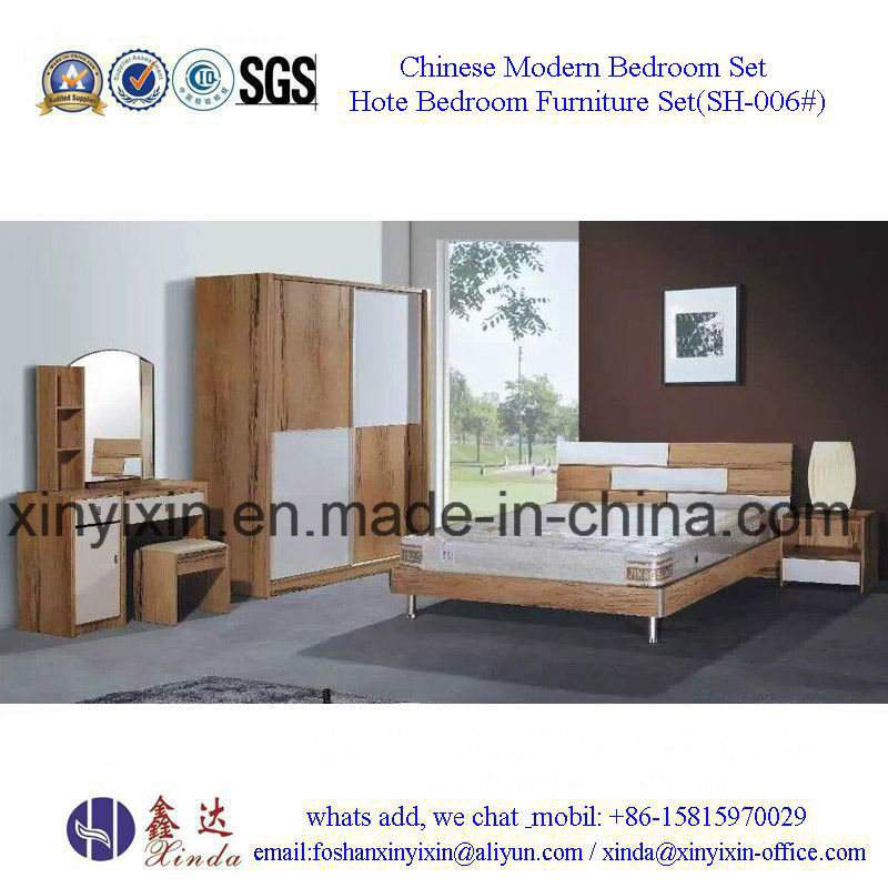 Foshan Factory Wooden Bed Modern Bedroom Furniture (SH-002#)