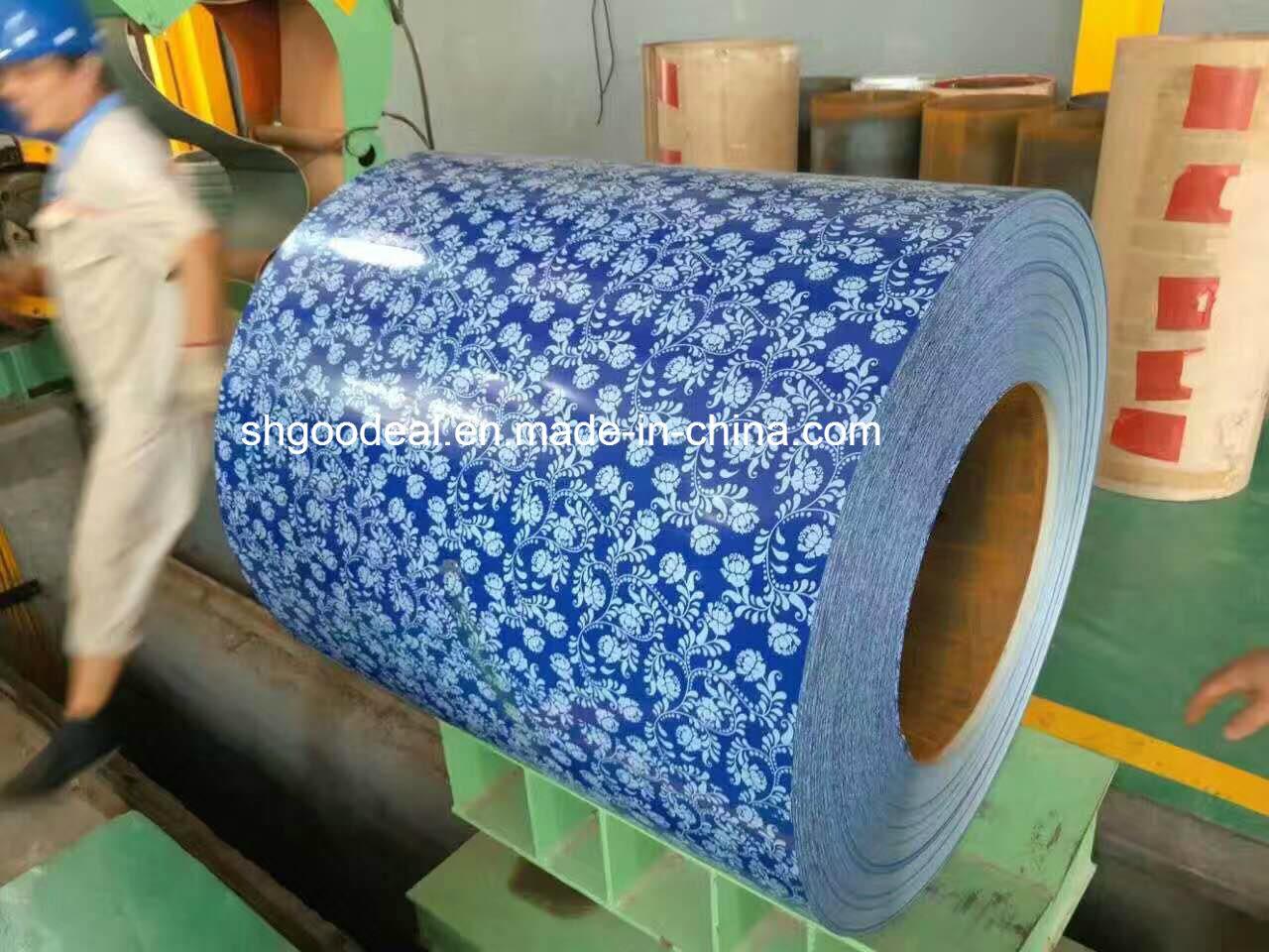 flower print Prepainted Steel Coils PPGI from shandong yehui factory
