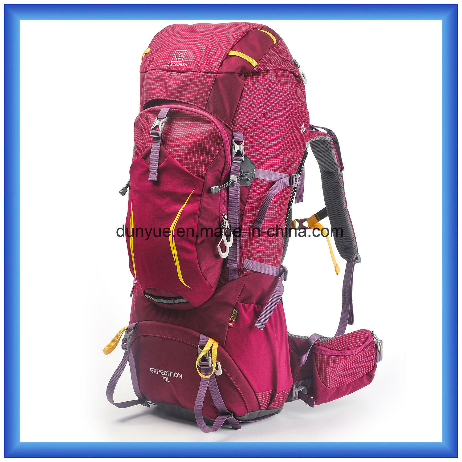 Hot Sale 70L Large Capacity Mountaineering Backpack, Outdoor Hiking Backpack, Multi-Functional Custom Climbing Camping Backpack
