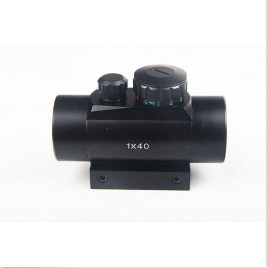 Tactical Hunting 1 X 40mm Airsoft Cross Hari Red Green DOT Sight