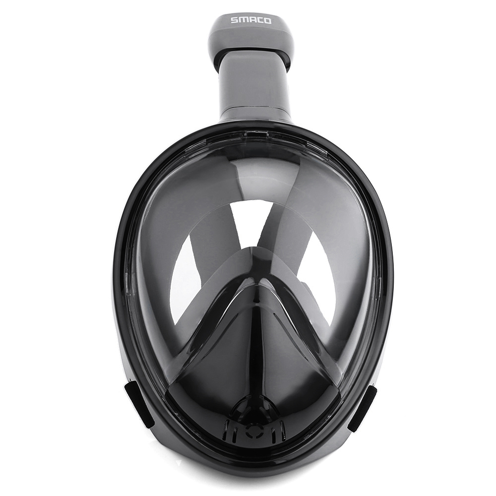 Black Full Face Snorkeling Mask Anti-Fog 270 Degree Seaview Without Gopro Camera Mount Ce FDA
