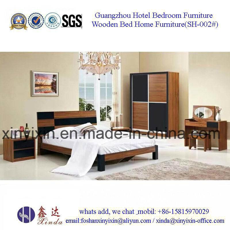 Foshan Factory Wooden Bed Modern Bedroom Sets Furniture (SH-002#)