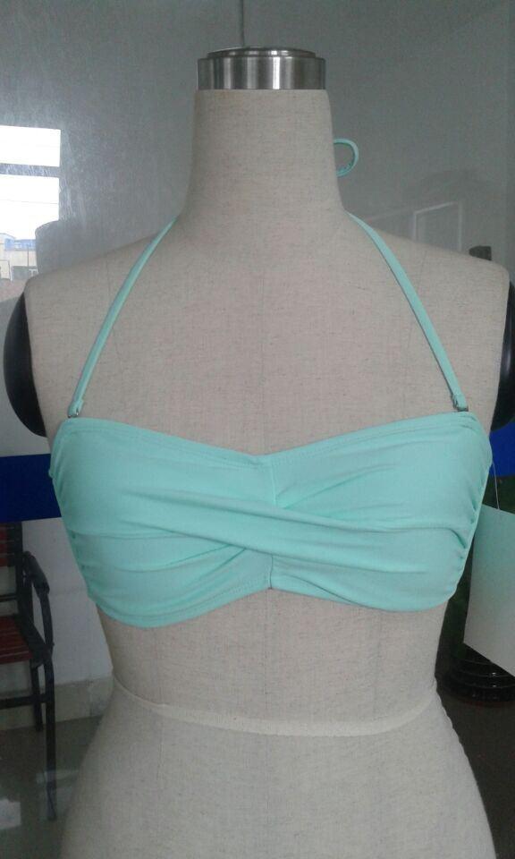 Sexy Ladies Two-Piece Twisted Bikini Swimwear (QG-4040M)