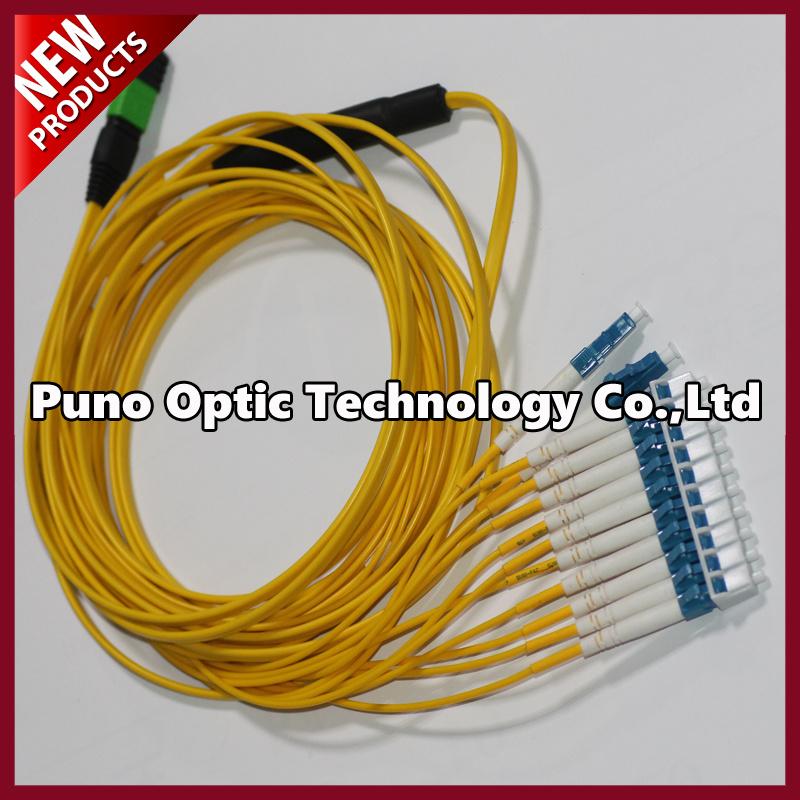 Mini OS2 MPO Fiber Optic Cable Single Mode Male to Male LSZH Plenum Round Cable