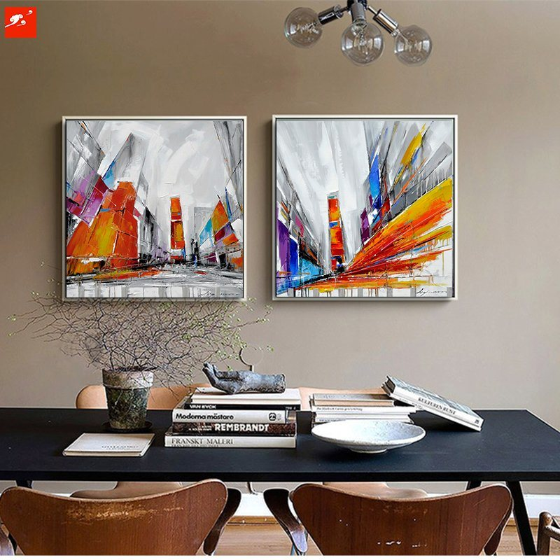2017 New Street Wall Picture Abstract Modern Oil Painting