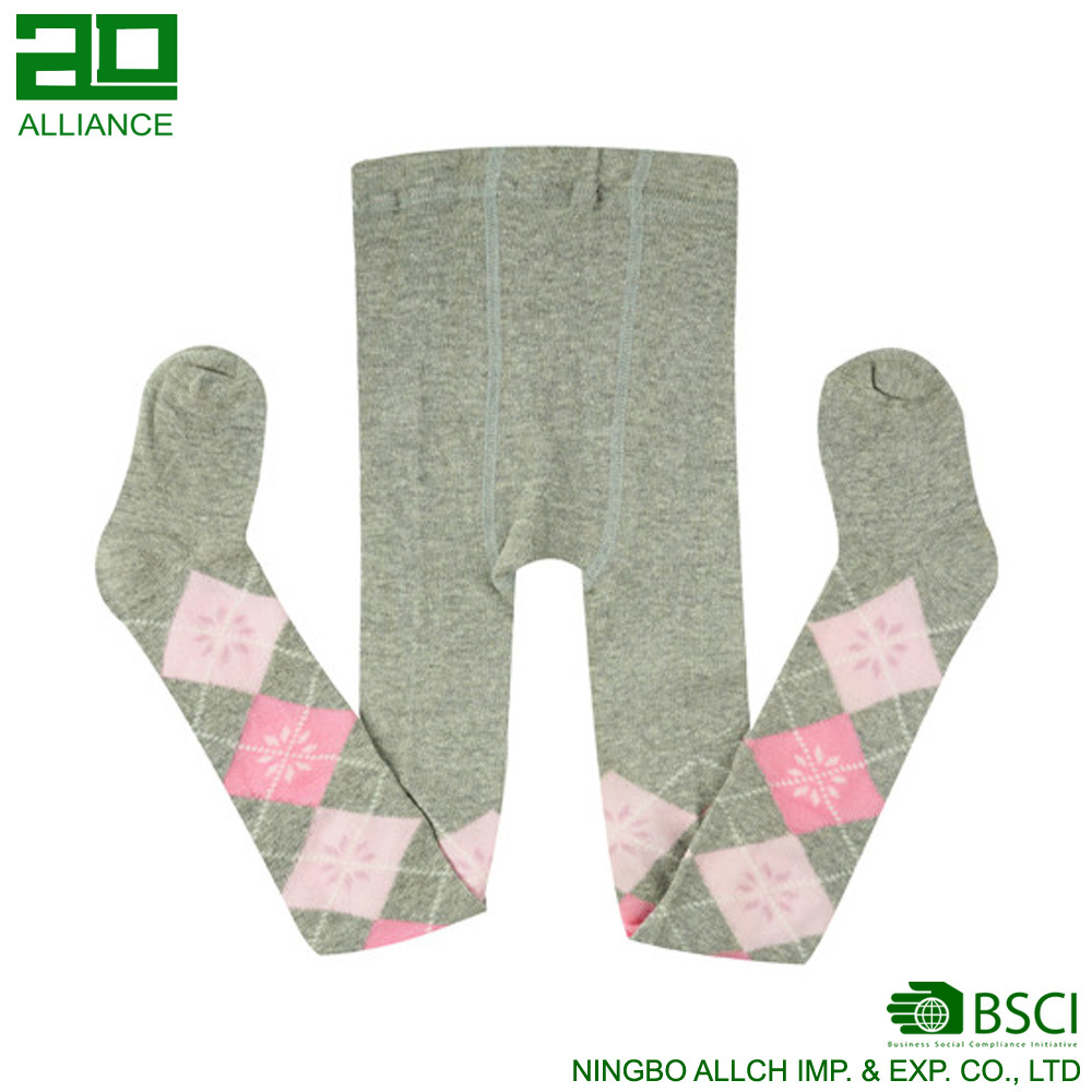 Argyle design Cotton Kids Tights