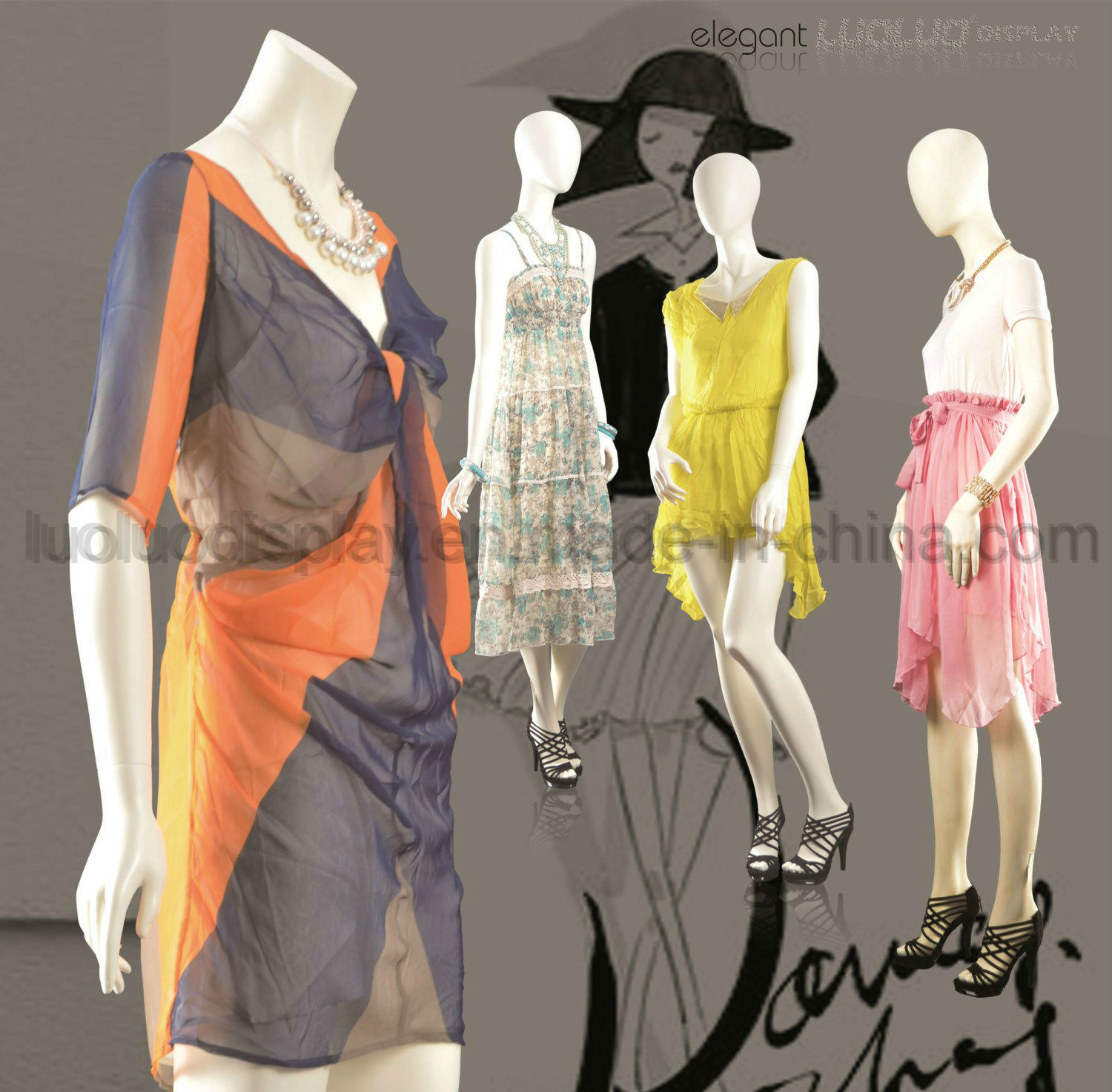 Fashion Female Mannequin for Window Display