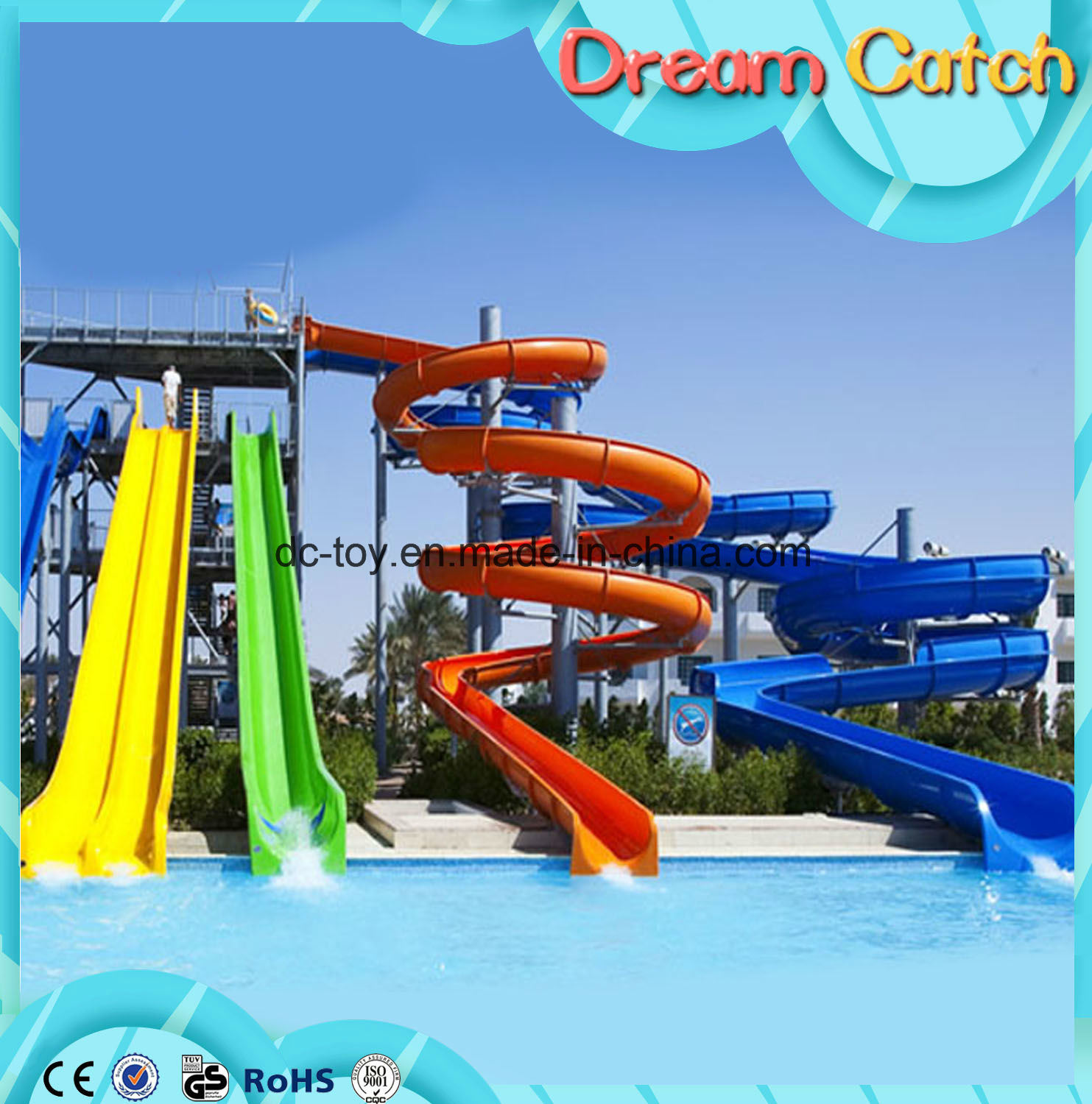 Outdoor Playground Water Park Slides for Sale