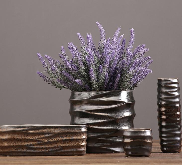 Metal Glaze Ceramic Flowerpot