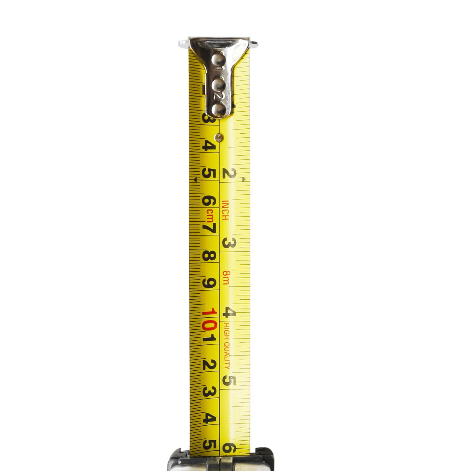 8m Auto Lock Steel Tape Measure with Nylon Coated Dual Blade