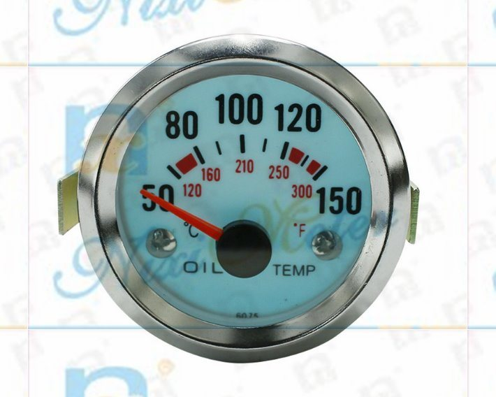 "2"" 52mm 50-150 Water Temperature Gauge with Cold Light"