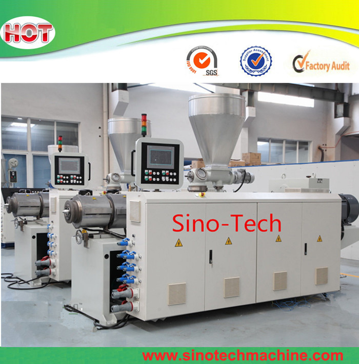 High Capacity Filament PVC UPVC Conical Twin Screw Plastic Extruder